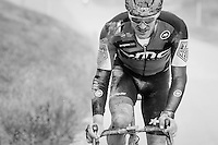 Crashed, but hanging on: Jempy Drucker (LUX/BMC) trying to get back into the race.<br /> <br /> 11th Strade Bianche 2017