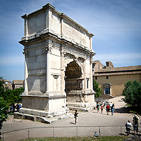 L'arco di Tito a Roma..The Arch of Titus in Rome