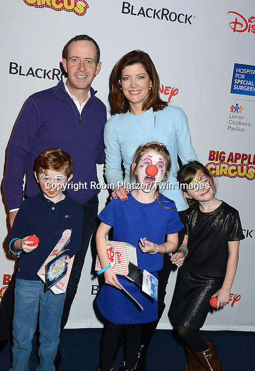 Norah O'Donnell and husband Geoff Tracy  and children  <br /> Henry, Riley and Grace Tracy attend the Hospital for Special Surgery's 8th Annual  Big Apple Circus Benefit on December 6, 2014 at Damrosch Park in Lincoln Center  in New York City, USA.<br /> <br /> photo by Robin Platzer/Twin Images<br />  <br /> phone number 212-935-0770