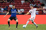 Bayern Munich Defender Marco Friedl (R) plays against FC Internazionale Midfielder Marcelo Brozovic (L) during the International Champions Cup match between FC Bayern and FC Internazionale at National Stadium on July 27, 2017 in Singapore. Photo by Weixiang Lim / Power Sport Images