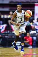 Washington, DC - May 27, 2018: Minnesota Lynx guard Danielle Robinson (3) brings the ball up court during game between the Mystics and Lynx at the Capital One Arena in Washington, DC. (Photo by Phil Peters/Media Images International)