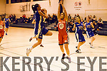 Emma Sherwood Garveys Tralee in action against Samantha Massey Oblate Dynamos at Mounthawk Gym on Saturday night.