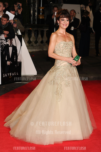Helen McRory arriving for the Royal World Premiere of 'Skyfall' at Royal Albert Hall, London. 23/10/2012 Picture by: Steve Vas / Featureflash