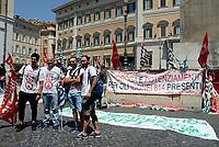 Roma, 19 Luglio 2017<br /> Vigili del Fuoco protestano a Montecitorio per chiedere assunzioni e esaurimento della graduatoria 814