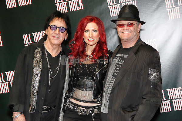 OAKS, PA - NOVEMBER 28 :  Special Guests Peter Criss of KISS,  Jade Starling of Pretty Poison and  Micky Dolenz of The Monkees pictured at The All Things That Rock Fest at the Greater Philadelphia Expo Center in Oaks, Pa on November 28, 2014  photo credit  Star Shooter / NediaPunch