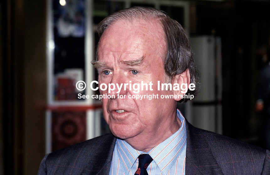 Stan Orme, MP, Labour Party, UK, 19870907SO..Copyright Image from Victor Patterson, 54 Dorchester Park, Belfast, UK, BT9 6RJ..Tel: +44 28 9066 1296.Mob: +44 7802 353836.Voicemail +44 20 8816 7153.Skype: victorpattersonbelfast.Email: victorpatterson@me.com.Email: victorpatterson@ireland.com (back-up)..IMPORTANT: If you wish to use this image or any other of my images please go to www.victorpatterson.com and click on the Terms & Conditions. Then contact me by email or phone with the reference number(s) of the image(s) concerned.