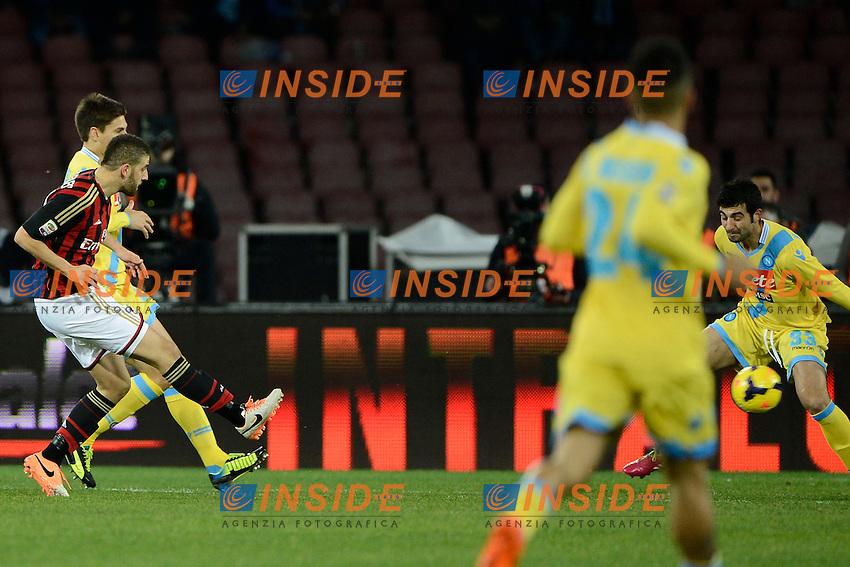 Gol di Adel Taarabt Milan 1-0. Celebration goal<br /> Napoli 08-02-2014 Stadio San Paolo - Football 2013/2014 Serie A. Napoli - Milan Foto Insidefoto