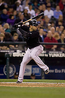 May 19, 2010: Toronto Blue Jays' Jose Bautista (19) at-bat during a game against the Seattle Mariners at Safeco Field in Seattle, Washington.