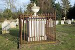 Georgian eighteenth century grave with iron railings