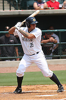 Charleston Riverdogs catcher Gary Sanchez #35 at bat during a game against the Delmarva Shorebirds at Joseph P. Riley Ballpark in Charleston, South Carolina on July 10, 2011. Charleston defeated Delmarva 2-0.   Robert Gurganus/Four Seam Images