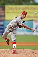 Deryk Hooker of the Palm Beach Cardinals during the game at Jackie Robinson Ballpark in Daytona Beach, Florida on July 29, 2010. Photo By Scott Jontes/Four Seam Images