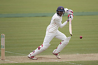 Haseeb Hameed of Lancashire CCC pushes in front of point for a single during Middlesex CCC vs Lancashire CCC, Specsavers County Championship Division 2 Cricket at Lord's Cricket Ground on 12th April 2019