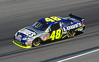 Feb 29, 2008; Las Vegas, NV, USA; NASCAR Sprint Cup Series driver Jimmie Johnson during practice for the UAW Dodge 400 at Las Vegas Motor Speedway. Mandatory Credit: Mark J. Rebilas-US PRESSWIRE
