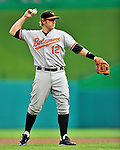 19 June 2011: Baltimore Orioles' third baseman Mark Reynolds in action against the Washington Nationals on Father's Day at Nationals Park in Washington, District of Columbia. The Orioles defeated the Nationals 7-4 in inter-league play, ending Washington's 8-game winning streak. Mandatory Credit: Ed Wolfstein Photo
