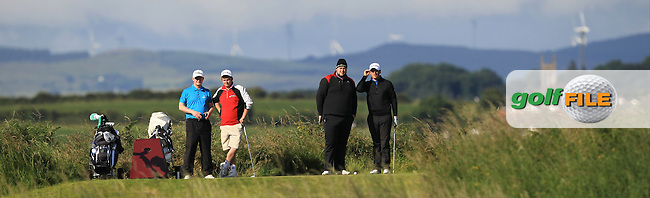 Colm Campbell Jnr. (Warren point) on the 3rd tee during Round 3 of Matchplay in the North of Ireland Amateur Open Championship at Portrush Golf Club, Portrush on Thursday 14th July 2016.<br /> Picture:  Thos Caffrey / www.golffile.ie