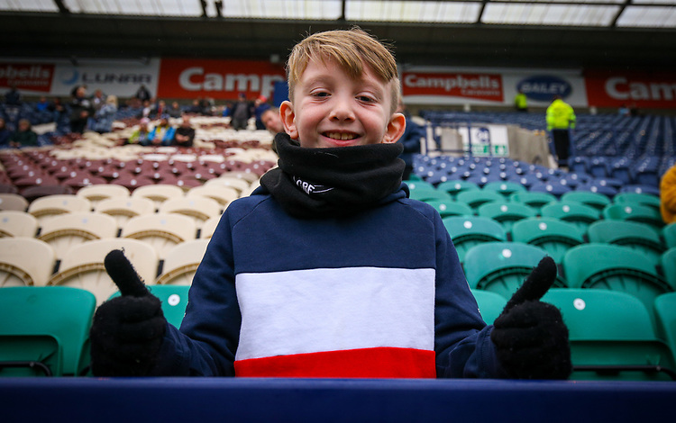Preston North End fans take their seats before the match<br /> <br /> Photographer Alex Dodd/CameraSport<br /> <br /> The Emirates FA Cup Third Round - Preston North End v Doncaster Rovers - Sunday 6th January 2019 - Deepdale Stadium - Preston<br />  <br /> World Copyright &copy; 2019 CameraSport. All rights reserved. 43 Linden Ave. Countesthorpe. Leicester. England. LE8 5PG - Tel: +44 (0) 116 277 4147 - admin@camerasport.com - www.camerasport.com