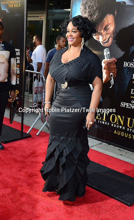"Jill Scott attends the World Premiere of ""Get On Up"" at the Apollo Theater in Harlem in New York Citiy on July 21, 2014."