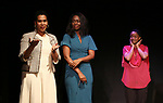 """on stage during """"Miracle in Rwanda"""" honoring International Day of Reflection on the 1994 Genocide against the Tutsi in Rwanda at the Lion Theatre on Theater Row on April 7, 2019 in New York City."""