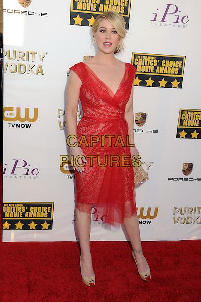 LOS ANGELES, CA - JANUARY 16:  - Christina Applegate. 19th Annual Critics' Choice Movie Awards held at Barker Hangar. <br /> CAP/ADM/BP<br /> &copy;Byron Purvis/AdMedia/Capital Pictures