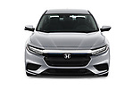 Car photography straight front view of a 2019 Honda Insight EX 4 Door Sedan