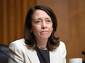 United States Senator Maria Cantwell (Democrat of Washington) questions a witness during a US Senate Committee on Finance confirmation hearing on Capitol Hill in Washington, DC on Wednesday, August 22, 2018.<br /> Credit: Ron Sachs / CNP