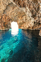 The famous Blue Caves in Zakynthos island, Greece