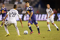 Midfielder Rafael Marquez of the New York Red Bullsmoving with the ball. The New York Red Bulls beat the LA Galaxy 2-0 at Home Depot Center stadium in Carson, California on Friday September 24, 2010.