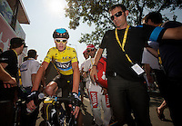 Chris Froome (GBR) after finishing stage 12<br /> <br /> Tour de France 2013<br /> stage 12: Fougères - Tours 218km