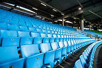 12th March 2020, TGW Arena, Pasching, Austria; UEFA Europa League football,  LASK versus Manchester United; Empty seats as the game was played in frton of only 500 fans due to the Cornoa virus