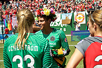 Portland, OR - Saturday July 15, 2017: Adrianna Franch during a regular season National Women's Soccer League (NWSL) match between the Portland Thorns FC and the North Carolina Courage at Providence Park.