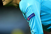 13th September 2017, Wembley Stadium, London, England; Champions League Group stage, Tottenham Hotspur versus Borussia Dortmund; The 5th Official wears the UEFA Respect campaign badge