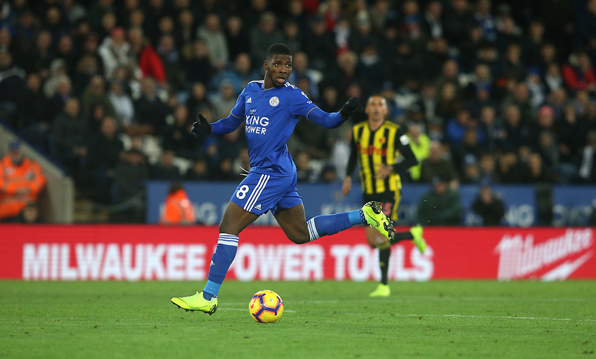 Leicester City's Kelechi Iheanacho <br /> <br /> Photographer Stephen White/CameraSport<br /> <br /> The Premier League - Leicester City v Watford - Saturday 1st December 2018 - King Power Stadium - Leicester<br /> <br /> World Copyright © 2018 CameraSport. All rights reserved. 43 Linden Ave. Countesthorpe. Leicester. England. LE8 5PG - Tel: +44 (0) 116 277 4147 - admin@camerasport.com - www.camerasport.com