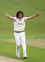 PICTURE BY VAUGHN RIDLEY/SWPIX.COM - Cricket - County Championship Div 2 - Yorkshire v Essex, Day 3 - Headingley, Leeds, England - 21/04/12 - Yorkshire's Ryan Sidebottom appeals.