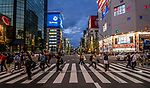 Crossing on main street in Akihabara known as Electric Town in Tokyo, Japan
