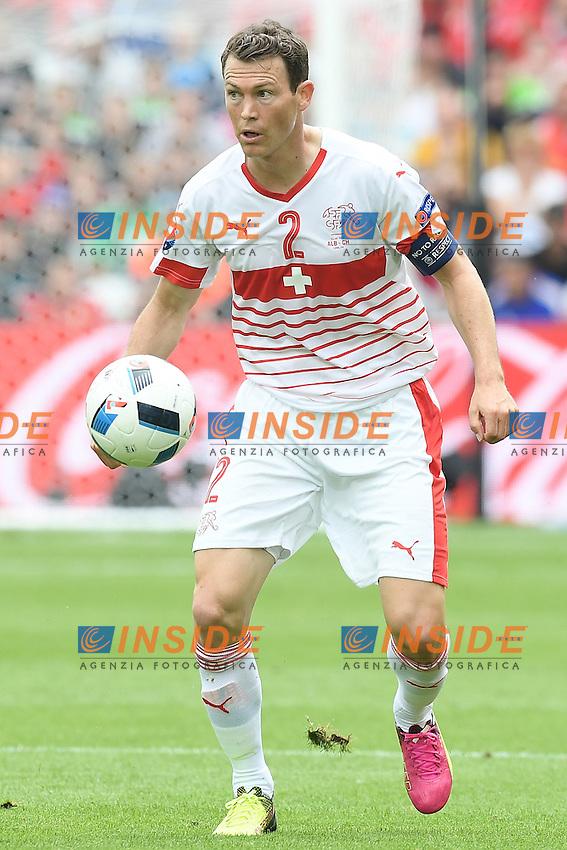 \Lens 11-06-2016 Stade Bollaert-Delelis Football  - Euro 2016 / Albania - Switzerland / foto Matteo Gribaudi/Image Sport/Insidefoto<br /> nella foto: Stephan Lichtsteiner