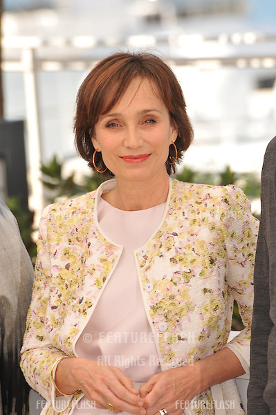 "Kristin Scott Thomas at photocall for her movie ""Only God Forgives"" in competition at the 66th Festival de Cannes..May 22, 2013  Cannes, France.Picture: Paul Smith / Featureflash"