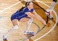 20 November 2008:  South Alabama libero Colleen Downey (9) keeps the ball in play during the FIU 3-1 victory over South Alabama in the first round of the Sun Belt Conference Championship tournament at FIU Stadium in Miami, Florida.