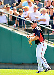 8 March 2011: Atlanta Braves infielder Brooks Conrad in action during a Spring Training game against the New York Yankees at Champion Park in Orlando, Florida. The Yankees edged out the Braves 5-4 in Grapefruit League action. Mandatory Credit: Ed Wolfstein Photo