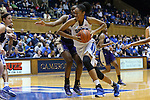29 December 2015: Duke's Azura Stevens drives the lane. The Duke University Blue Devils hosted the Western Carolina University Catamounts at Cameron Indoor Stadium in Durham, North Carolina in a 2015-16 NCAA Division I Women's Basketball game.