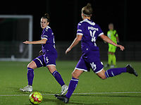 20190920 – LEUVEN, BELGIUM : RSC Anderlecht's Britt Vanhamel (4) is pictured during a women soccer game between Dames Oud Heverlee Leuven A and RSC Anderlecht Ladies on the fourth matchday of the Belgian Superleague season 2019-2020 , the Belgian women's football  top division , friday 20 th September 2019 at the Stadion Oud-Heverlee Korbeekdam in Oud Heverlee  , Belgium  .  PHOTO SPORTPIX.BE   SEVIL OKTEM