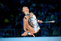 "YANA LUKONINA of Russia performs in Event Finals at 2011 World Cup Kiev, ""Deriugina Cup"" in Kiev, Ukraine on May 8, 2011."