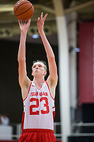 NWA Democrat-Gazette/BEN GOFF @NWABENGOFF<br /> Connor Vanover, Arkansas forward, shoots a free throw n the second half Saturday, Oct. 5, 2019, during the annual Arkansas Red-White Game at Barnhill Arena in Fayetteville.