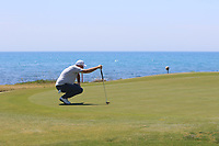 Thomas Bjorn (DEN) on the 7th green during Round 3 of the Rocco Forte Sicilian Open 2018 played at Verdura Resort, Agrigento, Sicily, Italy on Saturday 12th May 2018.<br /> Picture:  Thos Caffrey / www.golffile.ie<br /> <br /> All photo usage must carry mandatory copyright credit (&copy; Golffile   Thos Caffrey)