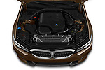 Car stock 2019 BMW 3-Series  Sport 4 Door Sedan engine high angle detail view