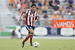 12 June 2013: Chivas USA's Carlos Borja. The North American Soccer League's Carolina RailHawks hosted Major League Soccer's CD Chivas USA at WakeMed Stadium in Cary, NC in a 2013 Lamar Hunt U.S. Open Cup fourth round game. Carolina won the game 3-1 after extra time.