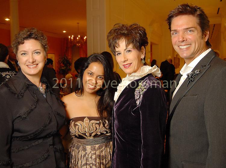 From left: Tamara Klosz Bonar, Neha Gupta, Linda Kuykendall and Lenny Matuszewski at the Night of Stars Gala honoring Houston's top fashion designers at the Junior League of Houston Tuesday Nov. 03,2009. (Dave Rossman/For the Chronicle)