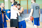 Members of Technical Team of Spanish National Team of Basketball say goodbye to Jaime Fernandez who will not go to the World Cup in China . August 21, 2019. (ALTERPHOTOS/Francis González)