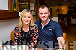 Clare Stack celebrates a birthday with Philip O'Connor at La Scala's on Saturday