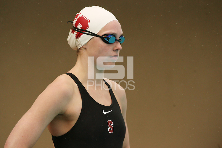 STANFORD, CA - JANUARY 22:  Betsy Webb of the Stanford Cardinal during Stanford's 173-125 win over Arizona on January 22, 2010 at the Avery Aquatic Center in Stanford, California.
