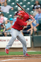 Memphis Redbirds catcher Bryan Anderson #16 at bat during a game against the Round Rock Express at the Dell Diamond on July 7, 2011in Round Rock, Texas.  Round Rock defeated Memphis.  (Andrew Woolley / Four Seam Images)